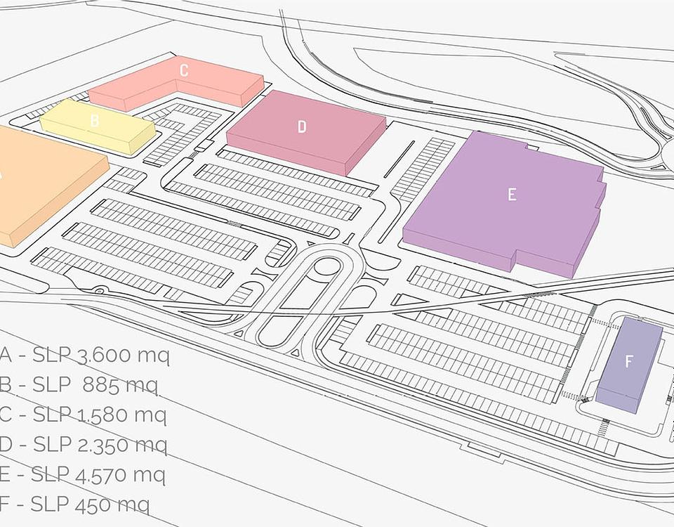 Area Commerciale Querceto - Spoleto - Planimetria