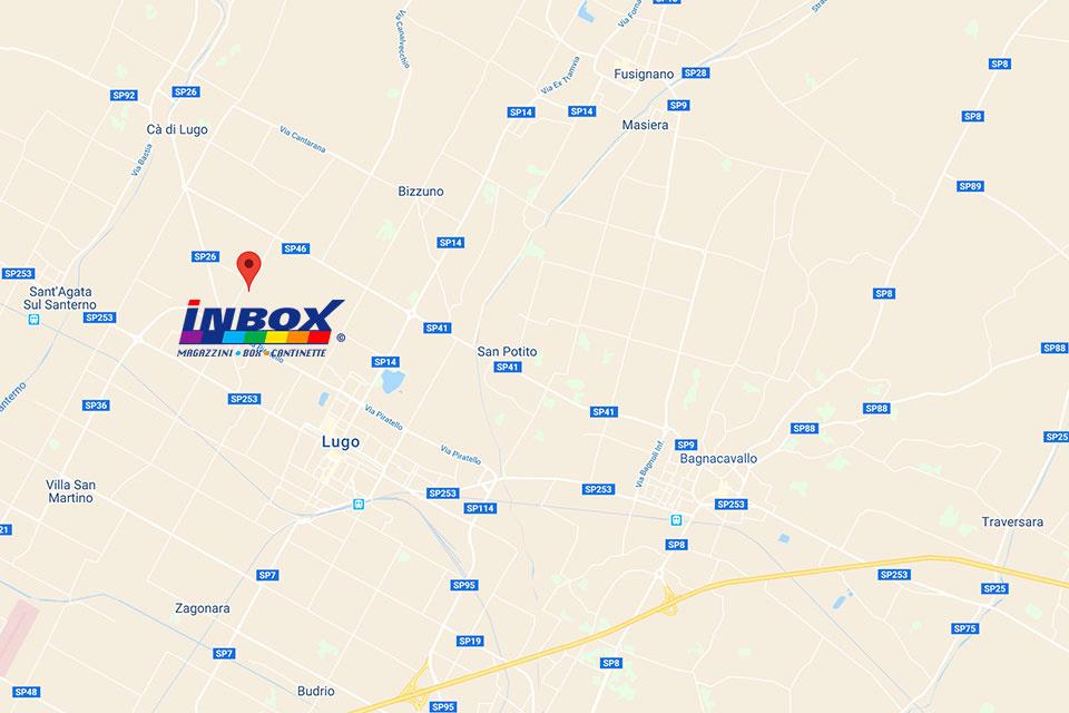Inbox Storage Lugo - Mappa