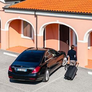 Autohotel Venezia ingresso e parcheggio indipendenti